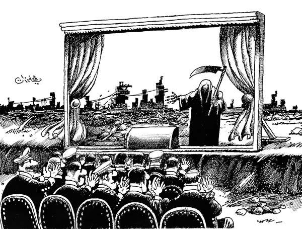 ali ferzat - علي فرزات-  كاريكاتير - رؤساء - 584