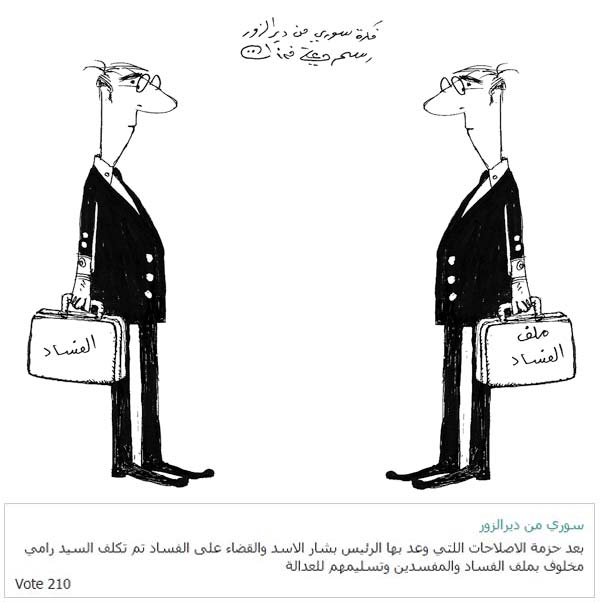 ali ferzat - علي فرزات-  كاريكاتير - كاريكاتير بافكاركم - 585