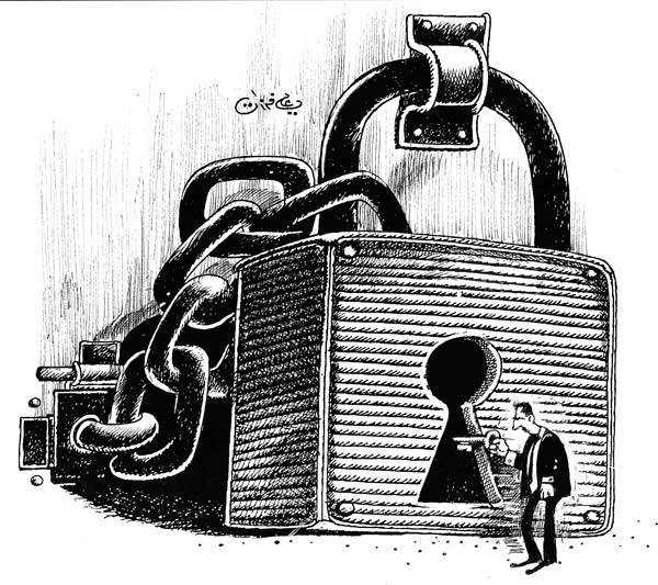 ali ferzat - علي فرزات-  كاريكاتير - سلطة - 588