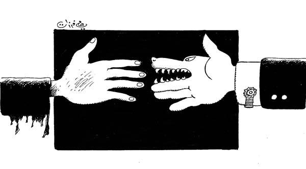 ali ferzat - علي فرزات-  كاريكاتير - احزاب سلطة - 589