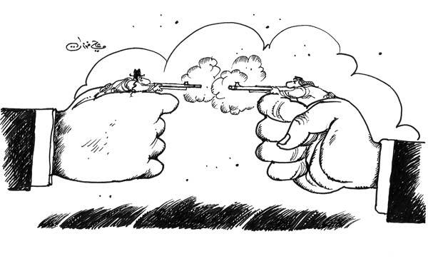 ali ferzat - علي فرزات-  كاريكاتير - حرب - 602