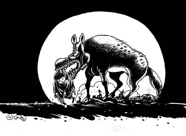 ali ferzat - علي فرزات-  كاريكاتير - فقراء - 626