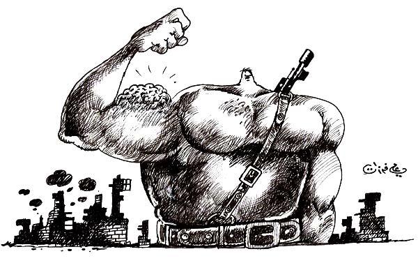 ali ferzat - علي فرزات-  كاريكاتير - ارهاب - 629