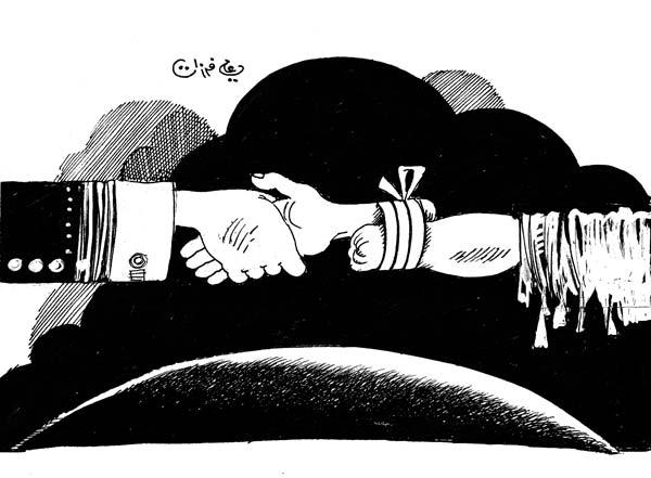 ali ferzat - علي فرزات-  كاريكاتير - نفاق - 632