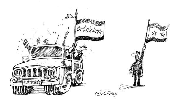 ali ferzat - علي فرزات-  كاريكاتير - احزاب سلطة - 648