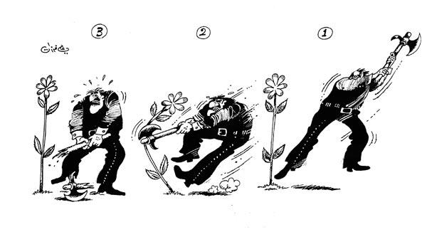 ali ferzat - علي فرزات-  كاريكاتير - احزاب سلطة - 653