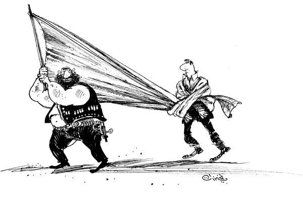 ali ferzat - علي فرزات-  كاريكاتير - ارهاب - 658