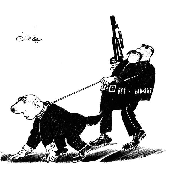 ali ferzat - علي فرزات-  كاريكاتير - ارهاب - 659