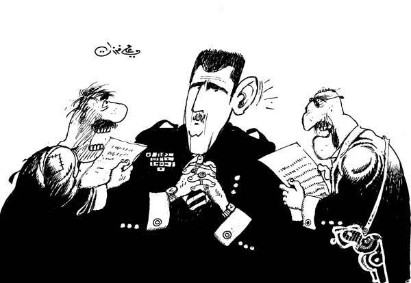 ali ferzat - علي فرزات-  كاريكاتير - عسكرتاريا - 667