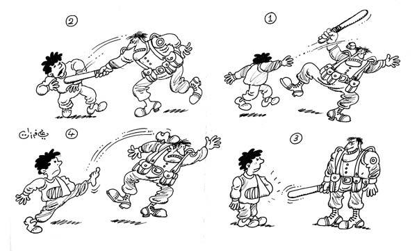 ali ferzat - علي فرزات-  كاريكاتير - عسكرتاريا - 675