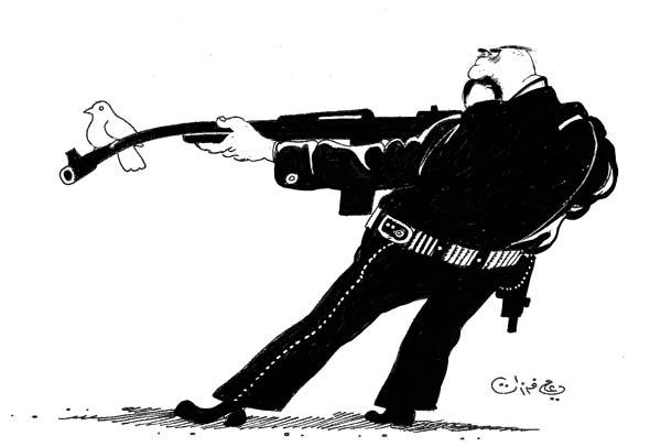 ali ferzat - علي فرزات-  كاريكاتير - عسكرتاريا - 678