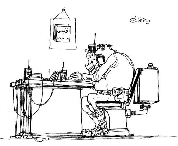 ali ferzat - علي فرزات-  كاريكاتير - سلطة - 682