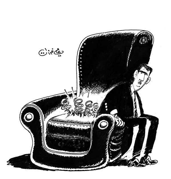 ali ferzat - علي فرزات-  كاريكاتير - عسكرتاريا - 685