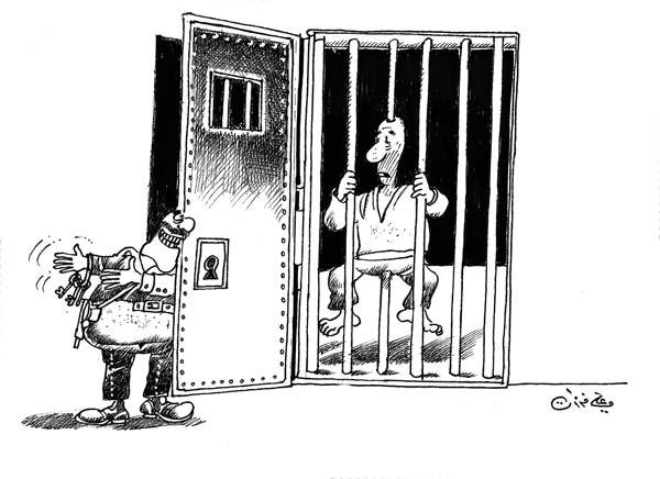 ali ferzat - علي فرزات-  كاريكاتير - عسكرتاريا - 692