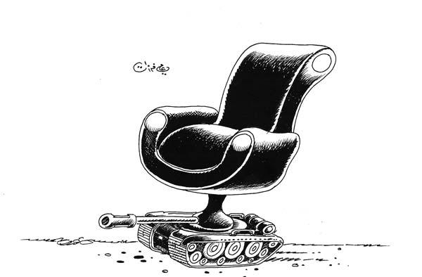 ali ferzat - علي فرزات-  كاريكاتير - كراسي - 695