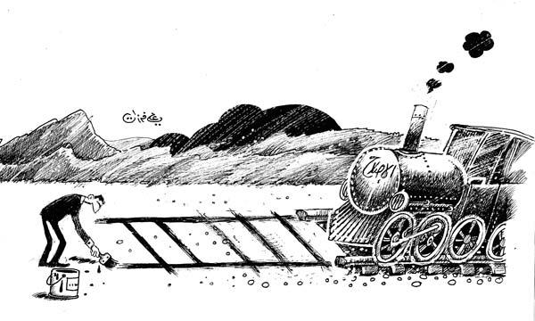 ali ferzat - علي فرزات-  كاريكاتير - نفاق - 705