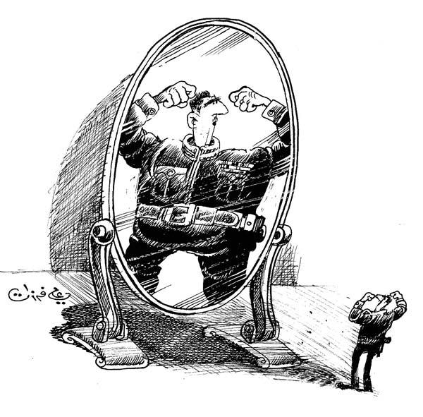 ali ferzat - علي فرزات-  كاريكاتير - احزاب سلطة - 706