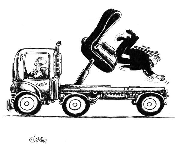 ali ferzat - علي فرزات-  كاريكاتير - مخابرات - 708