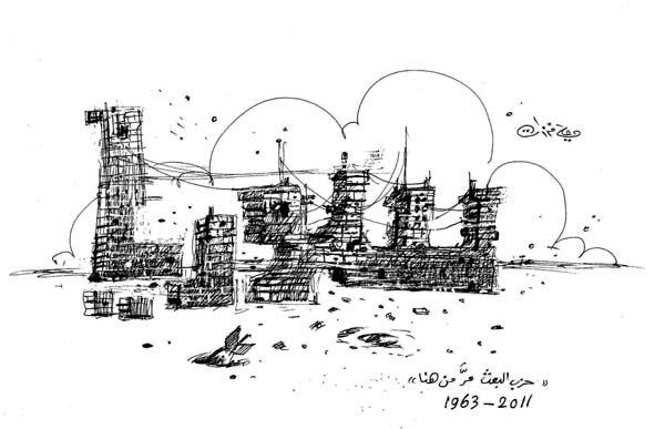 ali ferzat - علي فرزات-  كاريكاتير - عسكرتاريا - 710