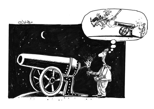 ali ferzat - علي فرزات-  كاريكاتير - احزاب سلطة - 715