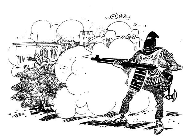 ali ferzat - علي فرزات-  كاريكاتير - عسكرتاريا - 718