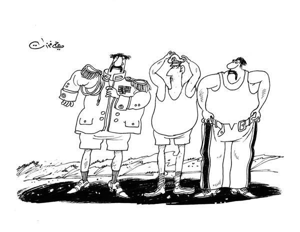 ali ferzat - علي فرزات-  كاريكاتير - عسكرتاريا - 719