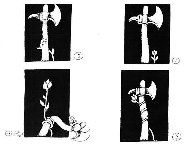 ali ferzat - علي فرزات-  كاريكاتير - قمع - 721