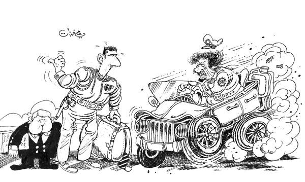 ali ferzat - علي فرزات-  كاريكاتير - عسكرتاريا - 732