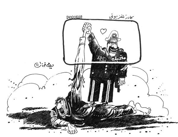 ali ferzat - علي فرزات-  كاريكاتير - مخابرات - 733